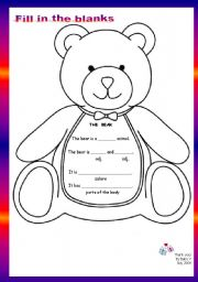 English worksheet: Guided Writing Nº 02 - The Bear