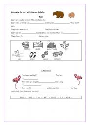 English Worksheets: Fill in the gaps - Animals
