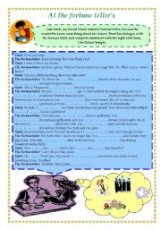 English Worksheet: At the fortune teller�s - Future Simple