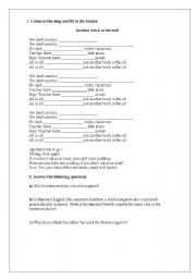 English Worksheet: Song - Another brick in the wall