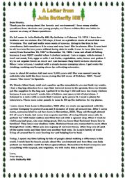 English Worksheets: WHAT WOULD YOU DO TO SAVE A TREE? (5 pages)