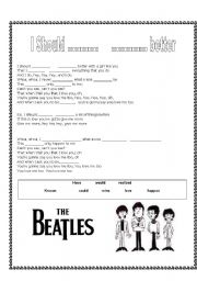 English Worksheet: Beatles - should have known better