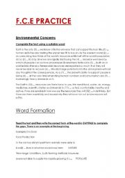 English Worksheets: FCE PRACTICE