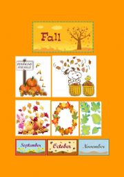 English Worksheet: Fall Classroom Poster