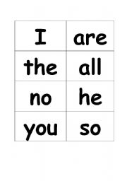 Tricky Words 1-60 Jolly Phonics