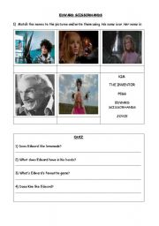 Edward Scissorhands Movie Worksheet