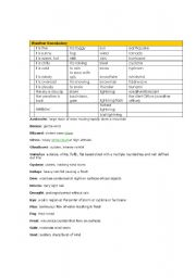 English Worksheets: English words