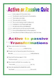 Passive voice esl quiz