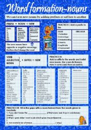 English Worksheet: Word formation nouns