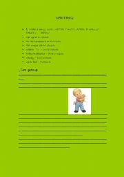 English Worksheets: Writing your day