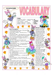 English Worksheet: RECYCLING VOCABULARY - TOPIC: OCCUPATIONS