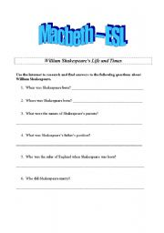 Worksheets Macbeth Worksheets english teaching worksheets macbeth complete unit of work for language learners intermediate