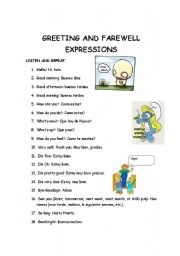 Greetings and farewell expressions esl worksheet by loreinne english worksheet greetings and farewell expressions m4hsunfo