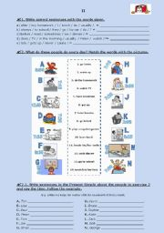 English Worksheet: TEST (groups II and III) - Daily routine (for 5th graders)