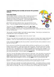 English Worksheets: Coco the Clown