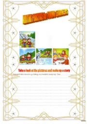 English Worksheet: WRITING PRACTICE FOR YOUNG LEARNERS (MOVERS CAMBRIDGE EXAM)