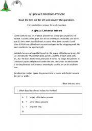 English Worksheets: a chistmas gift