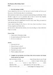English Worksheet: New Headway Elementary test