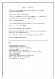 English Worksheet: Truth .. Or Dare!