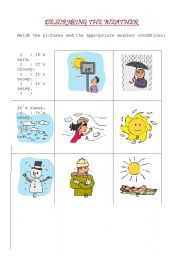 english worksheets describing the weather. Black Bedroom Furniture Sets. Home Design Ideas