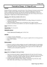 English Worksheet: Use a Youtube Video to Teach Narrative Writing