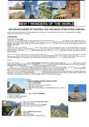 NEW 7 WONDERS OF THE WORLD (Part I)