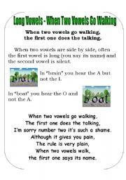 English Worksheet: Sp Tricks Poster 4 - Long vowel combinations