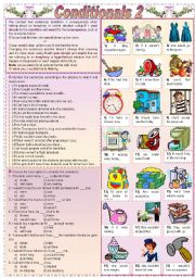 English Worksheet: Conditionals 2 (Grammar guide + exercises)
