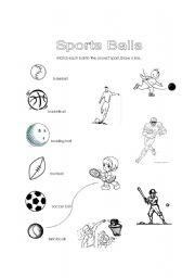 english worksheets sports balls. Black Bedroom Furniture Sets. Home Design Ideas