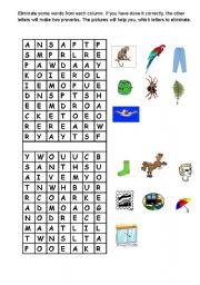 English worksheet: Puzzle game