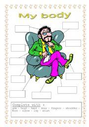 English Worksheets: Body label !!!