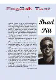 TEST - Brad Pitt´s daily routine