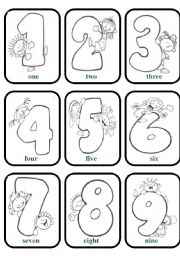 Numbers Games Cards (B&W)