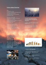 English Worksheets: Do the evolution by Pearl Jam- Song worksheet