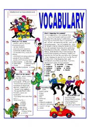 RECYCLING VOCABULARY - TOPIC: TYPES OF ENTERTAINMENT AND MUSICAL INSTRUMENTS. Elementary and up.
