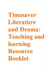 English Worksheet: Timesavers Literature Resource Booklet