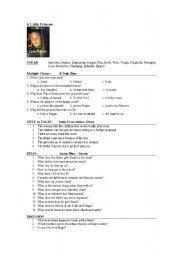 the little princess movie worksheet