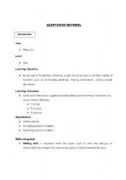 english worksheets material adaptation. Black Bedroom Furniture Sets. Home Design Ideas