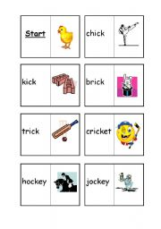 English worksheet: ck loop cards