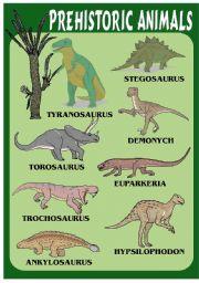 English Worksheets: PREHISTORIC ANIMALS 1