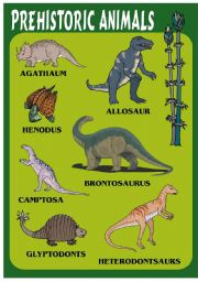 English Worksheets: PREHISTORIC ANIMALS 2
