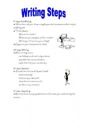 English Worksheets: Writing Steps