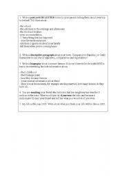 English Worksheets: writing ideas