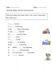 state and action verbs exercises pdf