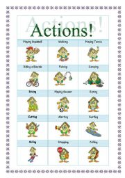 English Worksheets: Actions! 2 pages!