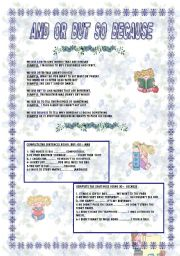 English Worksheets: AND OR BUT SO BECAUSE