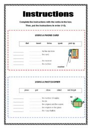 Instructions - 2 pages + key