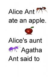 English Worksheets: Alice Ant