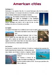 English Worksheets: American cities