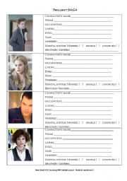 Twilight profile worksheet 2